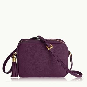 "Gigi New York Madison Crossbody Bag In ""Wine"""